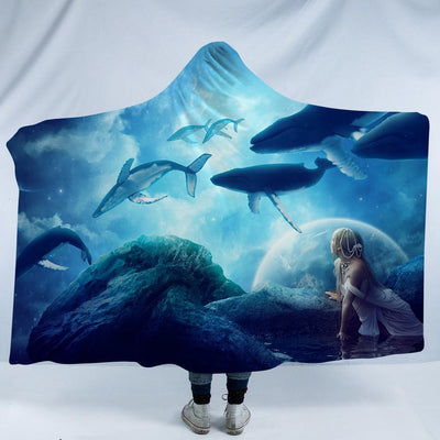 Magic Worlds Hooded Blanket