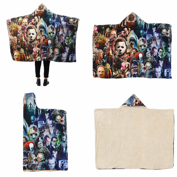 Horror Classics Hooded Blanket