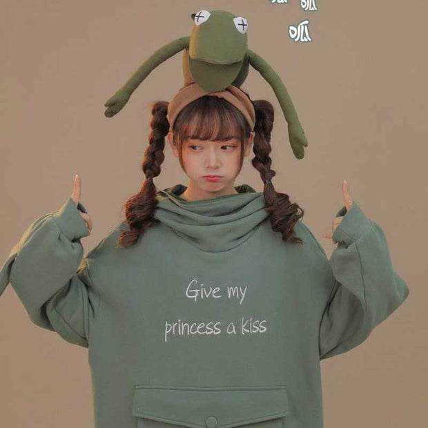 Give My Princess A Kiss Oversized Hoodie