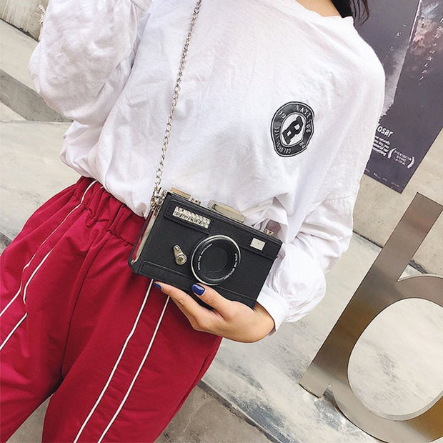 Womens Camera Shaped Crossbody Bag
