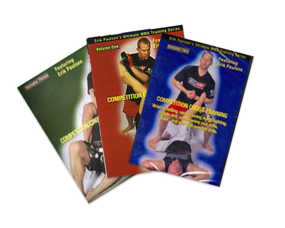 3 DVD SET Competition Cross Training Mixed Martial Arts - Erik Paulson