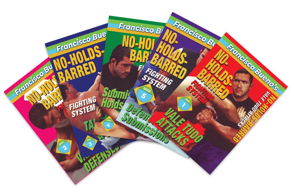 5 DVD SET No Holds Barred Vale Tudo - Francisco Bueno MMA attacks sweeps defense