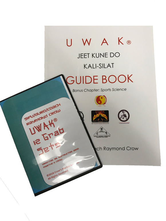 UWAK Jeet Kune Do Kali Silat Guidebook + Grab Set DVD Set Coach Raymond Crow