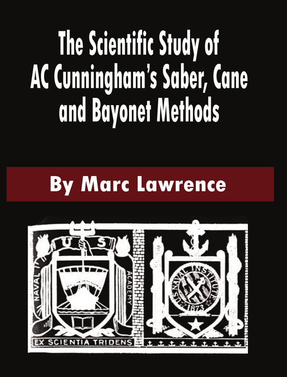 Scientific Study of A C Cunningham Saber Cane Bayonet book sword fighting