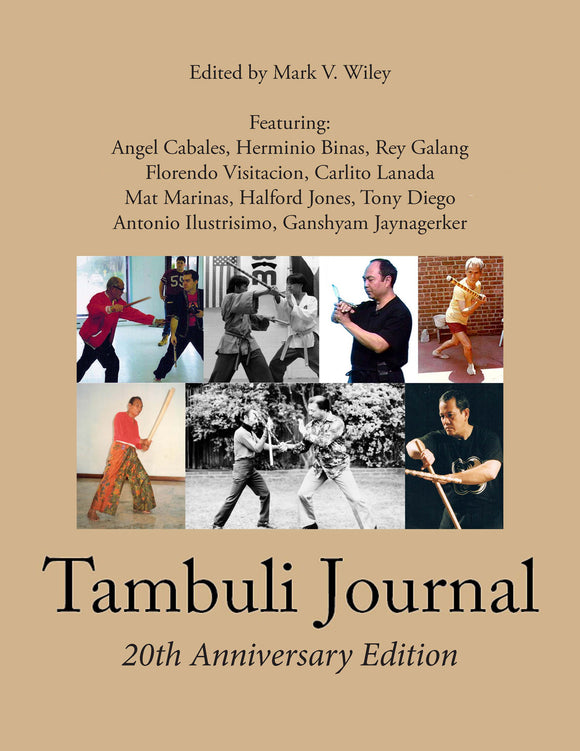 Tambuli Journal Filipino Martial Arts Esrima Kali Book 20th Ann. Edition Wiley