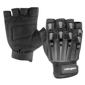 Alpha Half Finger Paintball Airsoft Armored Gloves