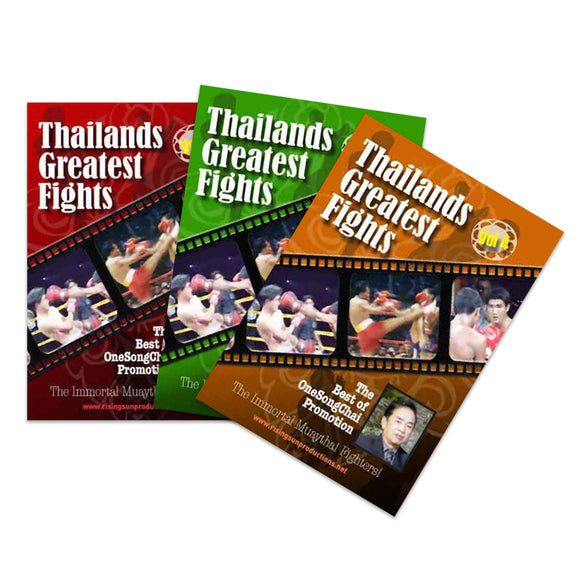 Muay Thai Greatest Fights 3 DVD Set OneSongChai Prormotions