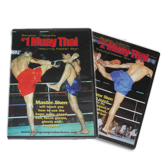 Muay Thai Kickboxing Master Sken 2 DVD Set