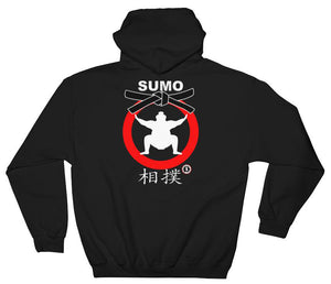 AT2105A Japanese Sumo Wrestling Hoodie Black