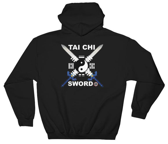 AT1605A Chinese Tai Chi Swords Hoodie Black