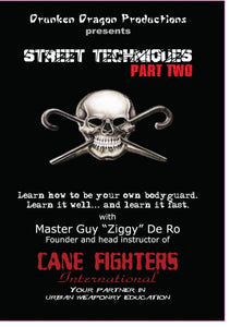 Street Techniques Self Defense Fighting Combat Cane #2 DVD Guy De Ro