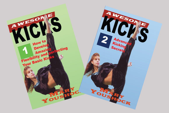 2 DVD Set The Awesome Tournament Karate Kicking - Mary Youshock