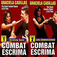 2 DVD Set Combat Escrima Women Filipino Martial Arts DVD Graciela Casillas