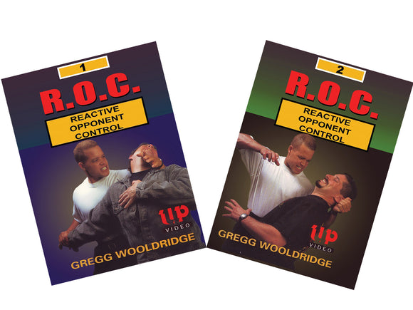 2 DVD Set R.O.C Reactive Opponent Control self defense fighting Gregg Wooldridge