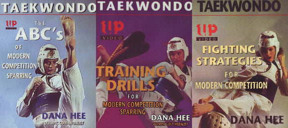 3 DVD SET Taekwondo Modern Competition Sparring Strategy Training Dana Hee