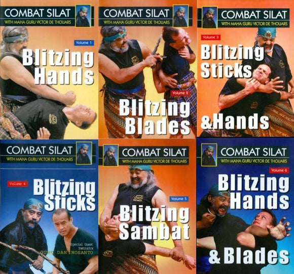 Indonesian Martial Arts Combat Pentjak Silat 6 DVD Set Guru Victor deThouars