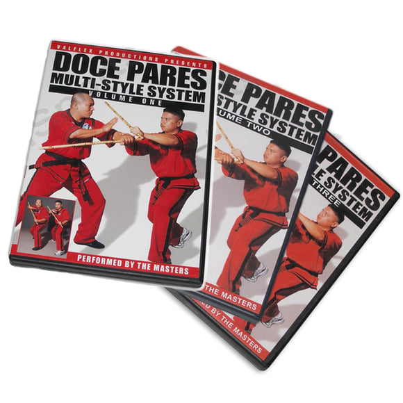 Doce Pares Multi-System 3 DVD Set Filipino Martial Arts Eskrima Kali Arnis By Pableo, Roiles, Mosqueda & Onas