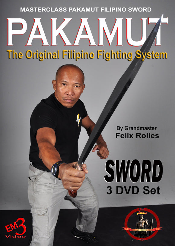 3 DVD Set Pakamut Filipino Martial Arts Sword Fighting System Felix Roiles kali