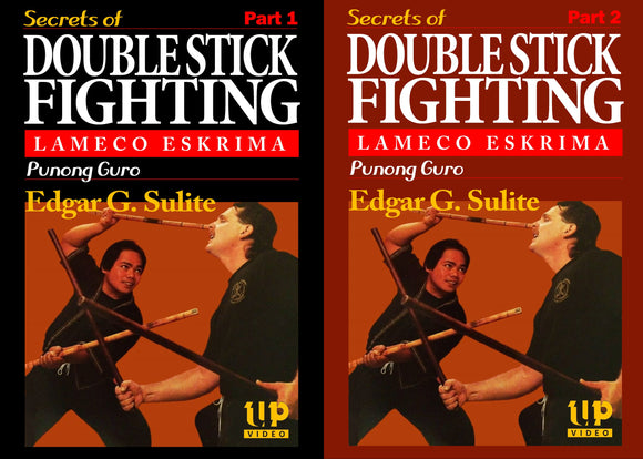 2 DVD Set Lameco Eskrima Secrets Double Stick Fighting Martial Arts Edgar Sulite