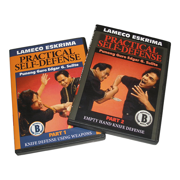 2 DVD SET Lameco Eskrima Practical Self Defense Martial Arts Edgar Sulite