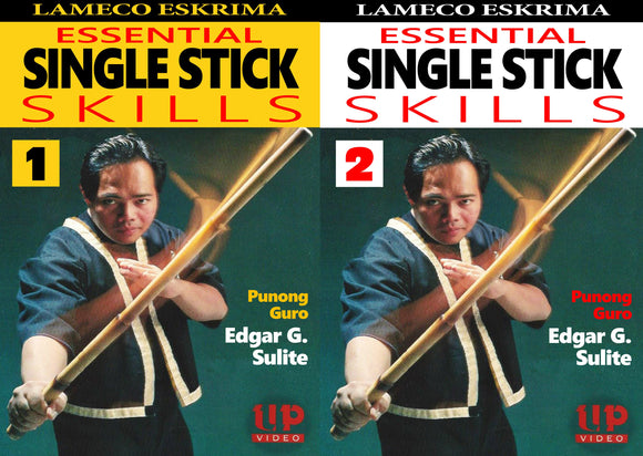 2 DVD Set Lameco Eskrima Essential Single Stick Skills Martial Arts Edgar Sulite