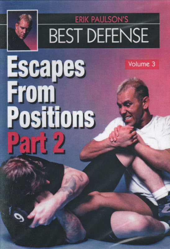 Erik Paulson Best Defense #3 Escapes from Positions #2 DVD MMA grappling nhb