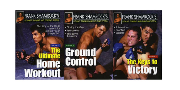 Frank Shamrock Training & Fighting 3 DVD Set MMA Grappling Fighting advanced