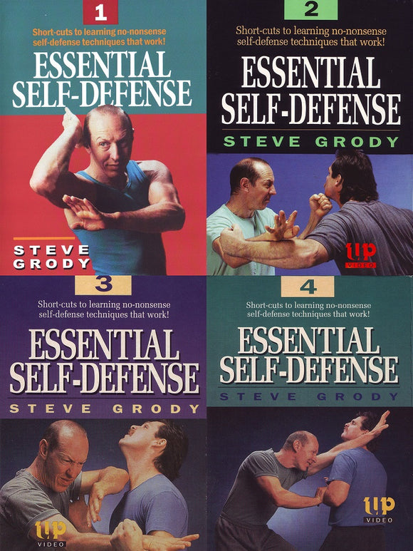 4 DVD SET Essential Self-Defense by Steve Grody mma filipino martial arts kali