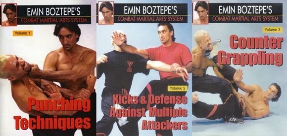 3 DVD Set Combat Martial Arts Counter Grappling Emin Boztepe wing tsun escrima