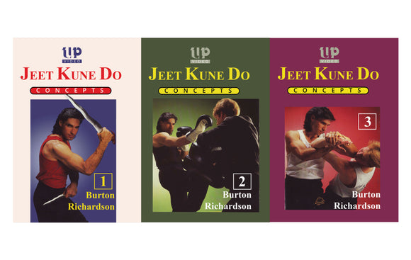 3 DVD SET Bruce Lee's Jeet Kune Do Concepts - Burton Richardson