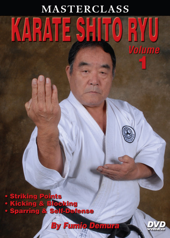 Master Class Fumio Demura Karate Shito Ryu #1 Striking DVD japanese shotokan