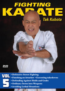 Fighting Karate #5 Defensive Street Fighting Kicking DVD Takayuki Kubota