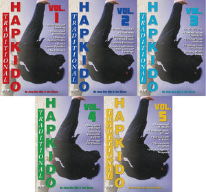 5 DVD Set Traditional Hapkido Groundfighting Ki Weapons DVD GM Jong Bae Rim