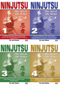 4 DVD SET Ninjutsu Art of the Ninja Secret Techniques - Jack Hoban