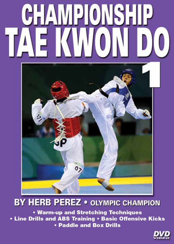 Championship Tae Kwon Do #1 Basic Kicks DVD Olympic Champion Herb Perez