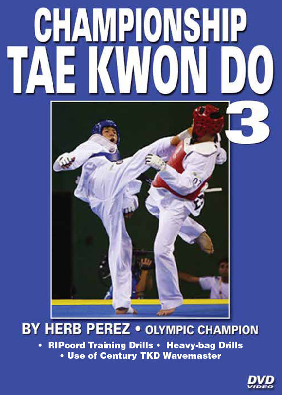 Championship Tae Kwon Do #3 Advanced Kicking DVD Olympic Champion Herb Perez