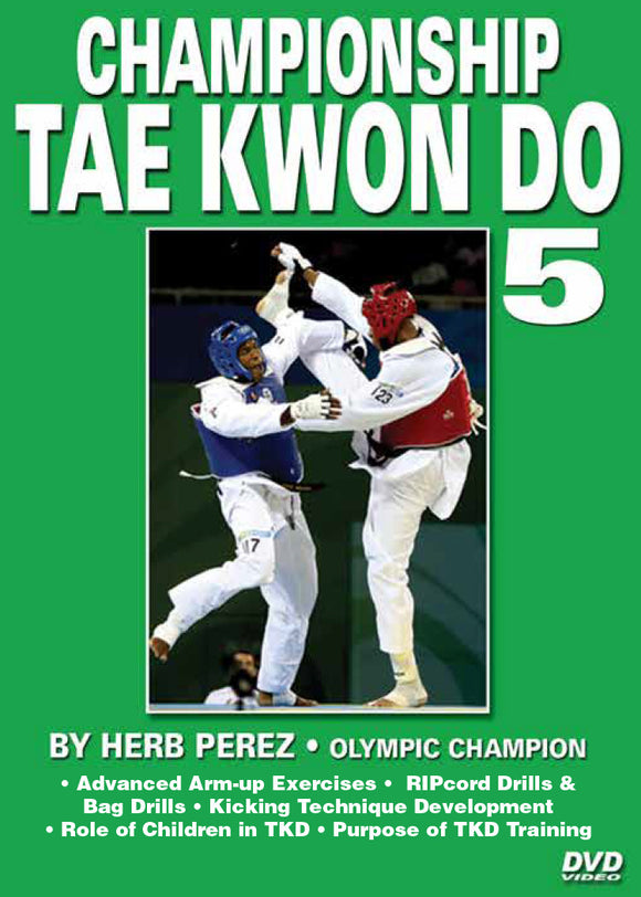 Championship Tae Kwon Do #5 Spinning Kicks DVD Olympic Champion Herb Perez