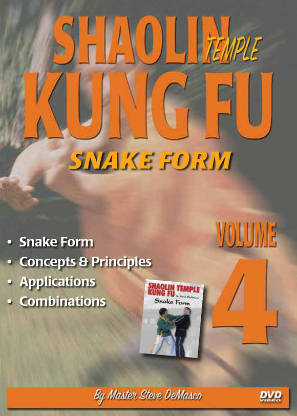 Shaolin Kung Fu #4 DVD Steve DeMasco Snake Form Concepts principles applications