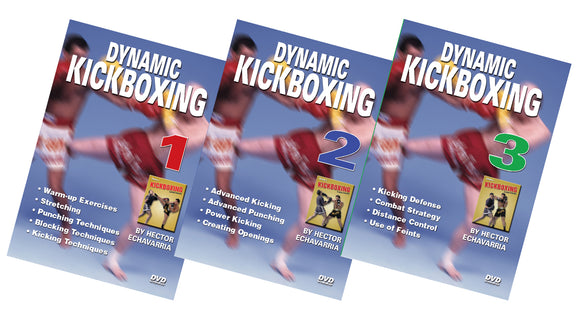 3 DVD SET Dynamic Kickboxing - Hector Echavarria Champion Fight Techniques