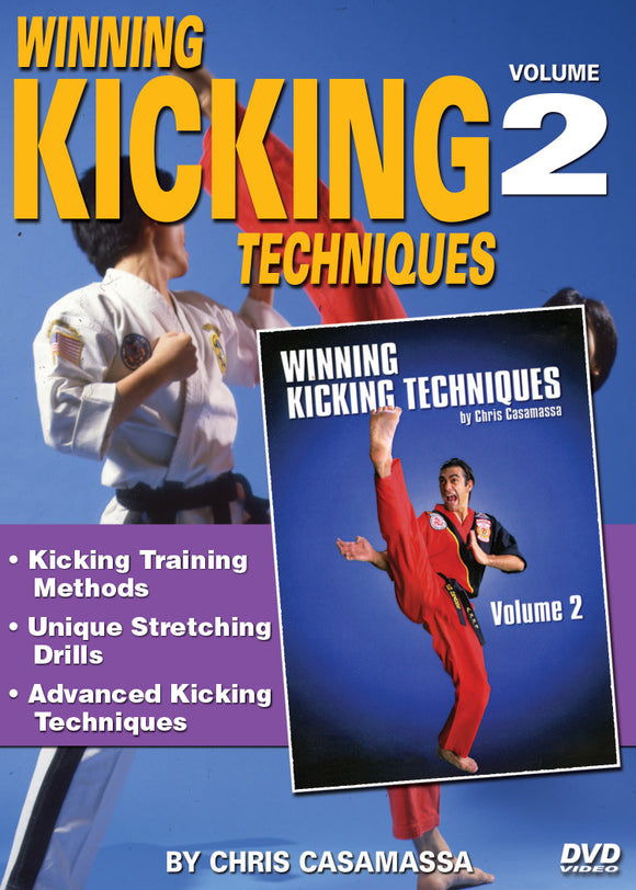 Winning Tournament Kicking Techniques #2 DVD Red Dragon Karate Chris Casamassa