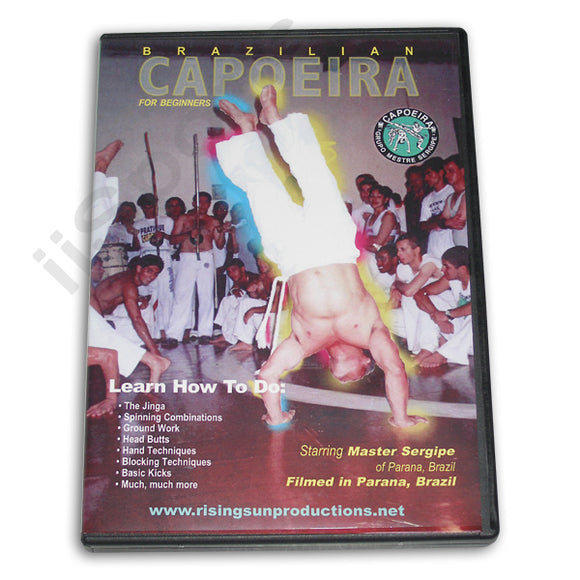 Brazilian Capoeira for Beginners DVD Master Sergipe