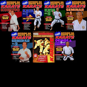 7 DVD Set Power Karate Hayashi Ha Shito Ryu Japanese Martial Art kata weapons