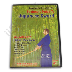 Beginner Guide Japanese Sword #1 Bokken Wood DVD Dana Abbott