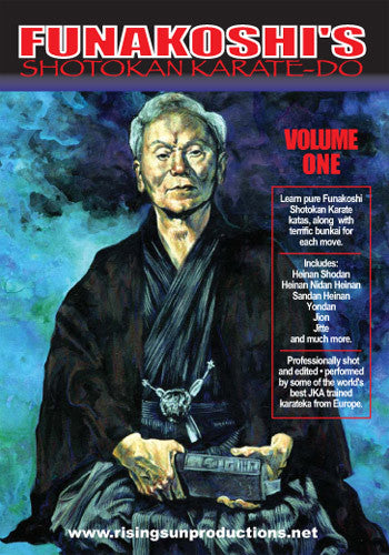 Eurpoean Funakoshi Shotokan Karate 5 DVD Set