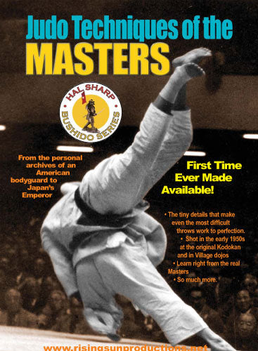 Judo Techniques of the Masters DVD Hal Sharp