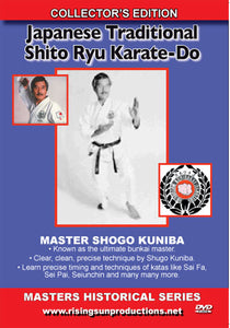 Japanese Traditional Shito Ryu Karate Do DVD