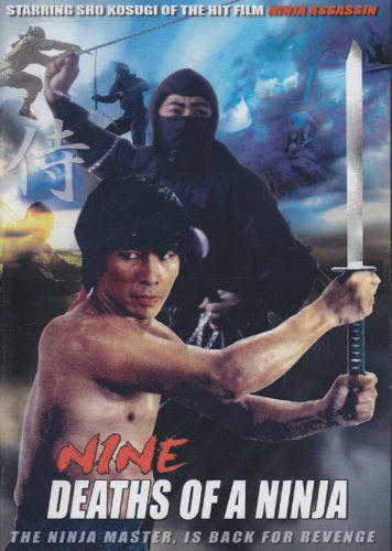 Nine Deaths of a Ninja movie DVD Sho Kosugi classic! martial arts action