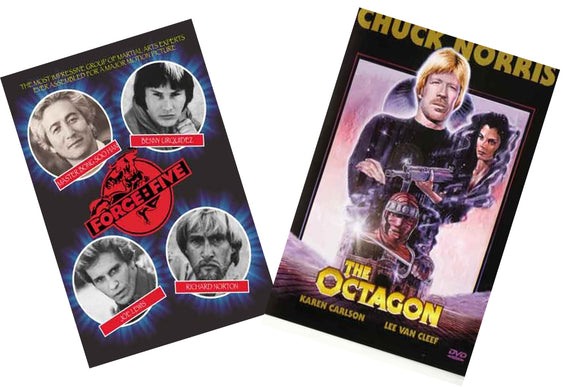 2 DVD SET The Octagon & Force Five DVD Martial Arts Movie Classics!