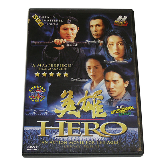Hero movie DVD Jet Li Donnie Yen