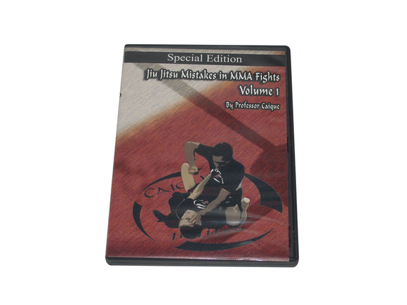 Brazilian Jiu Jitsu Common Mistakes in MMA Fights #1 DVD Caique grappling bjj